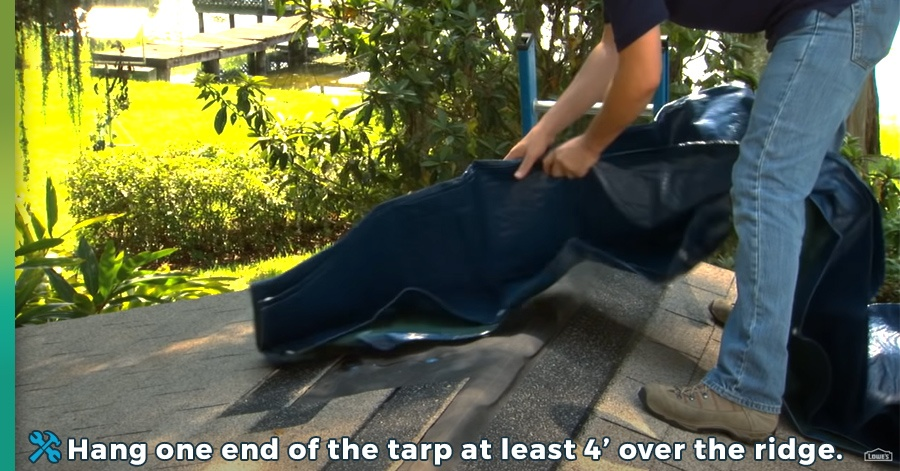 how to tarp a roof step 4