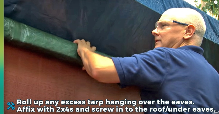 how to tarp a roof step 7