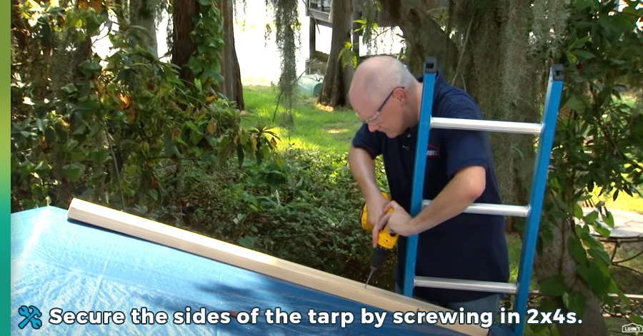 how to tarp a roof step 6