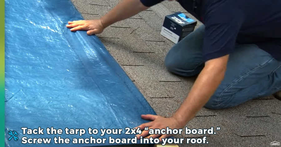 how to tarp a roof step 5